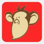 Pegatinas Lippy del mono