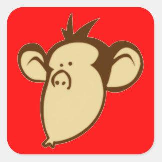 Pegatinas Lippy del mono Pegatina Cuadrada