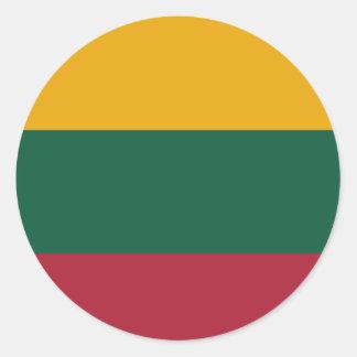 Pegatinas lituanos etiqueta redonda