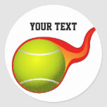 pegatinas llameantes de la pelota de tenis