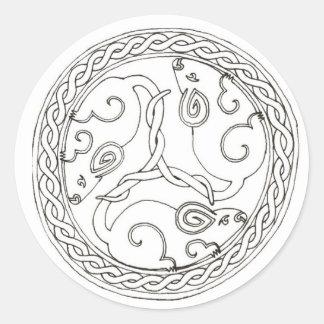 Pegatinas (llanos) célticos de los ratones pegatina redonda