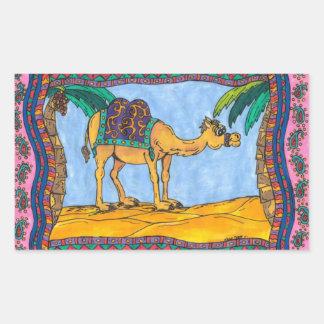Pegatinas locos del camello pegatina rectangular
