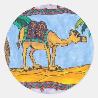 Pegatinas locos del camello pegatina redonda