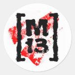 Pegatinas M13 Etiqueta Redonda