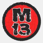 Pegatinas M13 Etiquetas Redondas