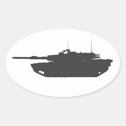 Pegatinas M1A1 y etiquetas Pegatina Ovalada