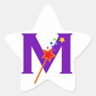 Pegatinas mágicos de la estrella de las maneras pegatina en forma de estrella