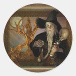 Pegatinas mágicos del ejemplo de la fantasía de pegatina redonda