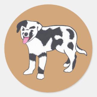 Pegatinas manchados blancos y negros del perro