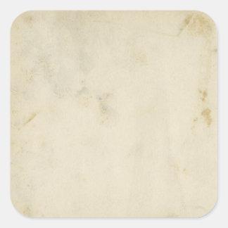 Pegatinas manchados papel envejecidos antigüedad pegatina cuadrada