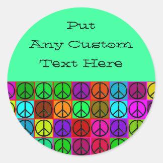 Pegatinas maravillosos de los signos de la paz pegatinas redondas