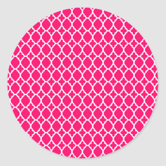 Pegatinas marroquíes de la teja de las rosas pegatina redonda