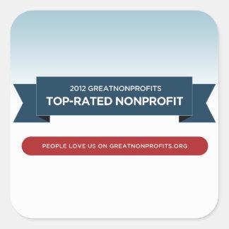 Pegatinas más valorados 2012 del premio de pegatina cuadrada