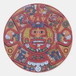 Pegatinas mayas del calendario pegatinas redondas