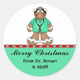 Pegatinas médicos del navidad