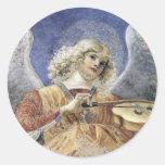 Pegatinas Melozzo da Forlì del ángel del Pegatina Redonda