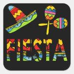 Pegatinas mexicanos de Maraca del sombrero del Calcomanías Cuadradass