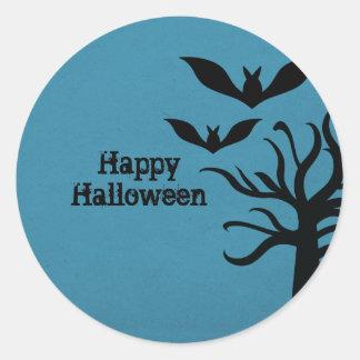 Pegatinas misteriosos de Halloween de los palos, a Pegatinas Redondas