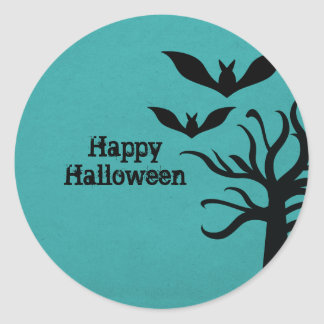 Pegatinas misteriosos de Halloween de los palos, a Etiquetas Redondas