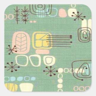 Pegatinas modernos del diseño gráfico de los pegatina cuadradas