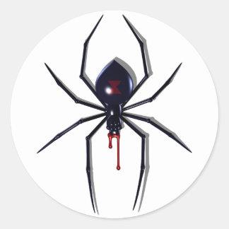 Pegatinas mortales de la mordedura de la araña pegatina redonda