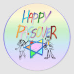 Pegatinas muy coloridos de un Passover Pegatinas Redondas