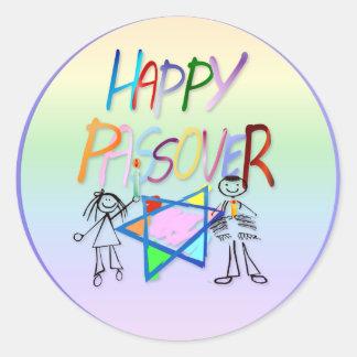 Pegatinas muy coloridos de un Passover Pegatina Redonda