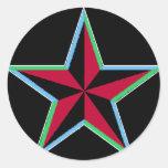 Pegatinas náuticos de la estrella pegatinas redondas