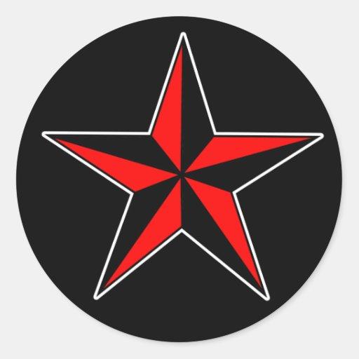 Pegatinas náuticos de la estrella pegatina redonda