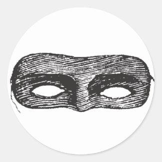 Pegatinas negros de la máscara pegatina redonda