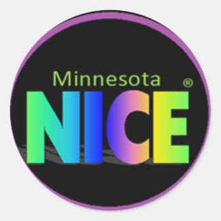 Pegatinas negros de Minnesota Nice® Pegatina Redonda