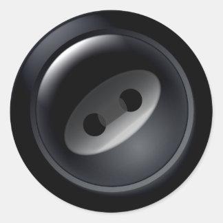 Pegatinas negros del botón pegatina redonda