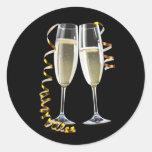 Pegatinas negros elegantes del vidrio de Champán d