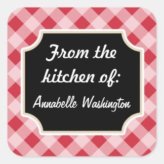 Pegatinas negros rojos personalizados de la cocina calcomania cuadradas personalizadas