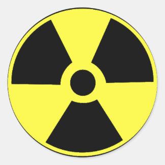 Pegatinas negros y amarillos radiactivos