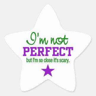 Pegatinas NO PERFECTOS Pegatina En Forma De Estrella