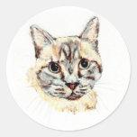 Pegatinas: Noble el gato Etiquetas Redondas