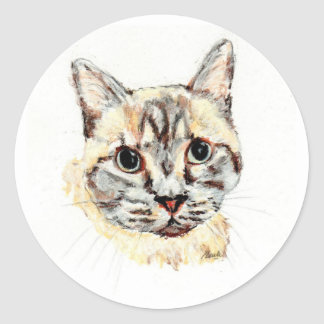 Pegatinas: Noble el gato Pegatina Redonda