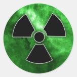 Pegatinas nucleares de la fusión pegatina redonda