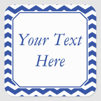 Pegatinas o etiquetas azules y blancos con el calcomanía cuadradas personalizadas