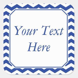 Pegatinas o etiquetas azules y blancos con el text
