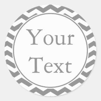 Pegatinas o etiquetas grises y blancos con el etiquetas redondas