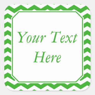 Pegatinas o etiquetas verdes y blancos con el pegatina cuadradas personalizada