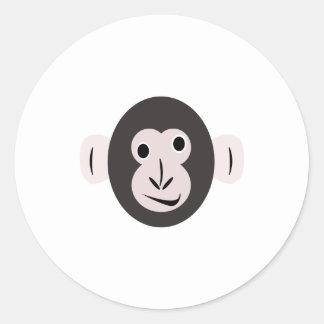 Pegatinas observados locos del chimpancé etiquetas redondas