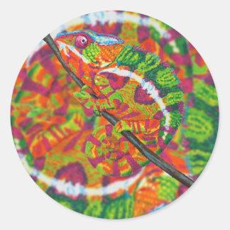 Pegatinas ocultados del camaleón pegatina redonda