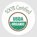 Pegatinas orgánicos certificados el 100% del USDA