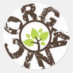 Pegatinas orgánicos del planeta del árbol verde or