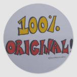 Pegatinas originales del 100% etiquetas redondas