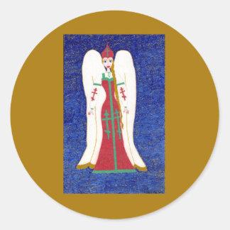 Pegatinas ortodoxos rusos del ángel