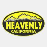 Pegatinas ovales amarillos divinos de California